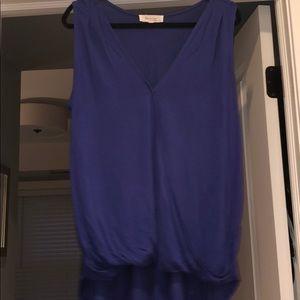 NORDSTROM Rayon Purple Faux Wrap Top